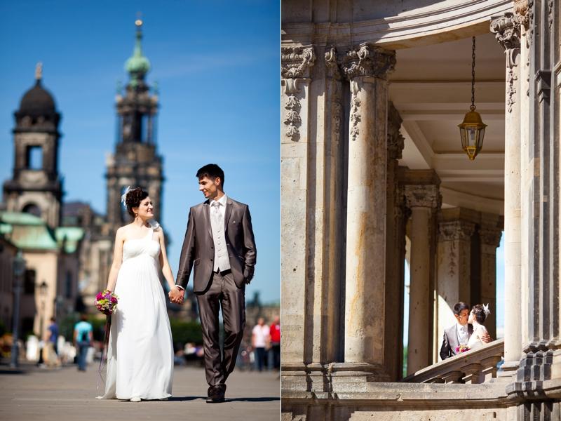 Hochzeitsfotos Brühlsche Terrasse Dresden